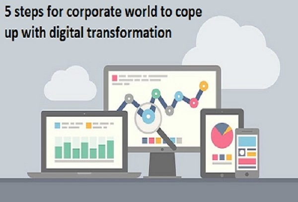 steps for corporate world to cope up with digital transformation